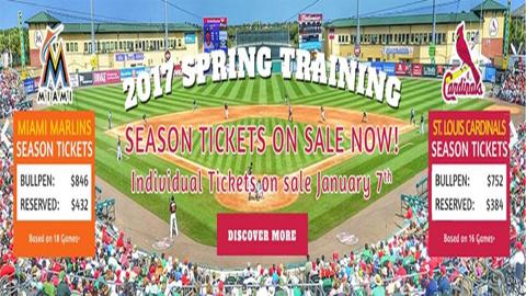 Roger Dean Stadium Announces 2017 Spring Training Schedule