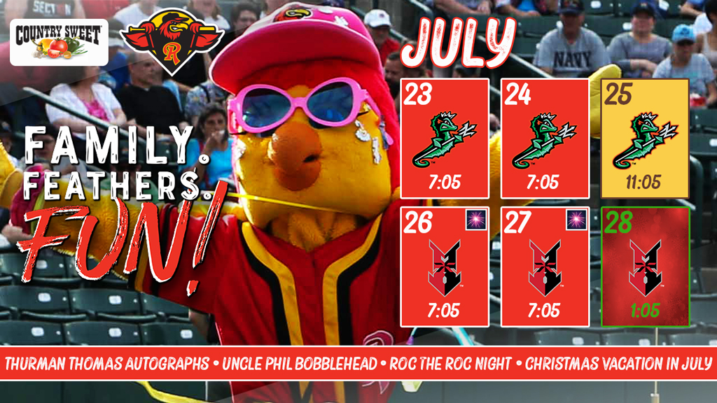 Homestand Highlights July 23_28