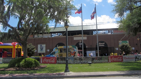 Historic Grayson Stadium, home of the Class A Savannah Sand Gnats.