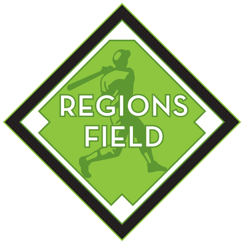 The newly unveiled Regions Field logo was designed by local Birmingham firm Luckie & Co.