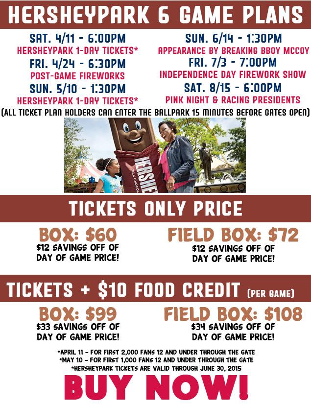 Hersheypark 6-Pack Plan | Harrisburg Senators Tickets