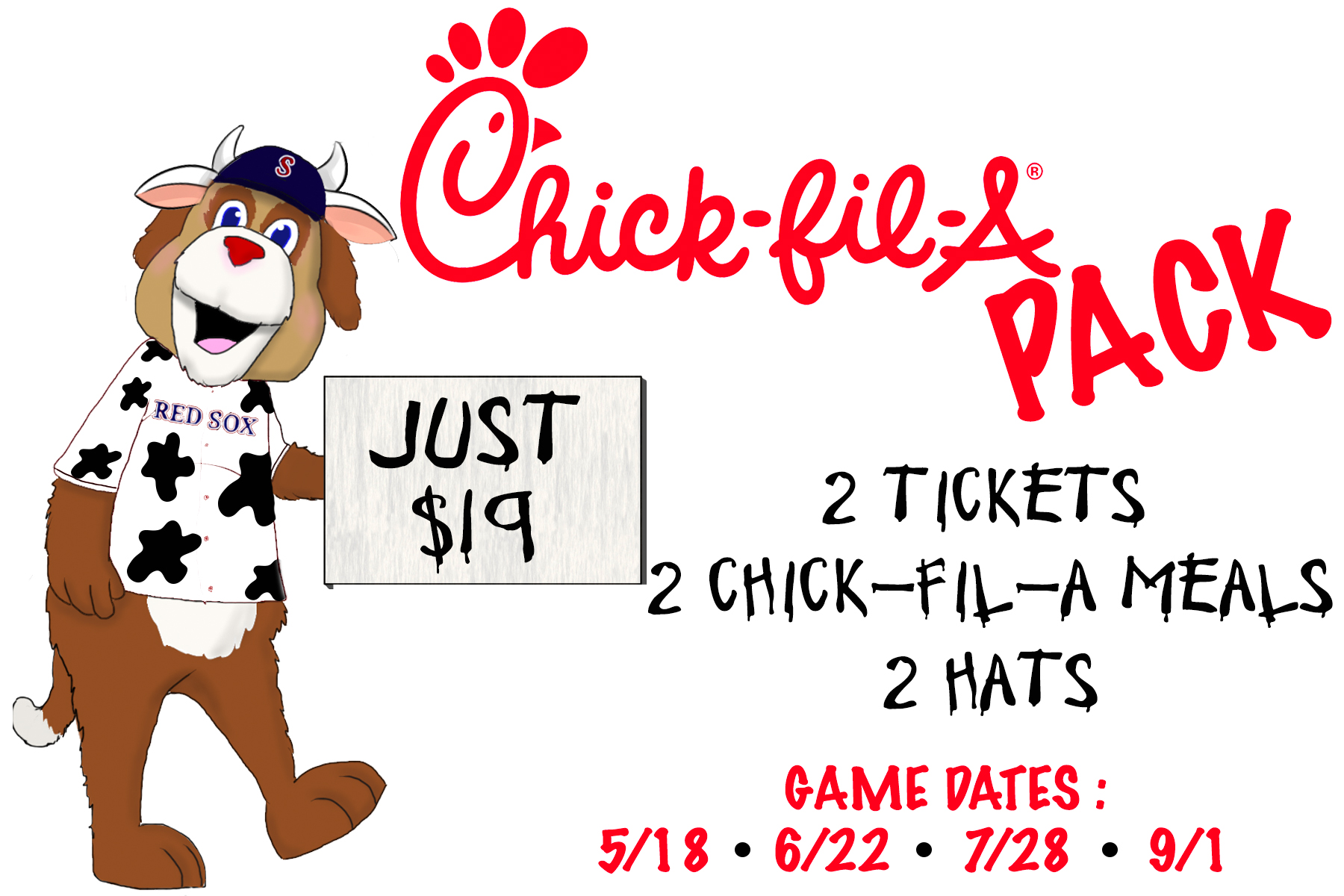 2018 Chick-Fil-A Pack | Salem Red Sox Tickets