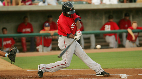 Michael Taylor ranked third in the Carolina League with 87 RBIs.