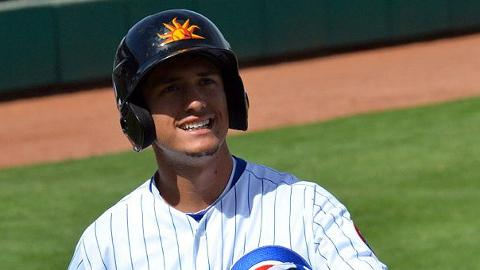 Albert Almora has six RBIs in two games for the Mesa Solar Sox.